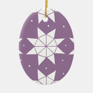 Star Wheels in Mauve Christmas Ornament