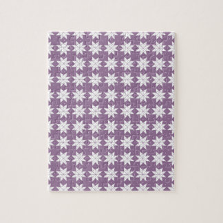 Star Wheels in Mauve Jigsaw Puzzle
