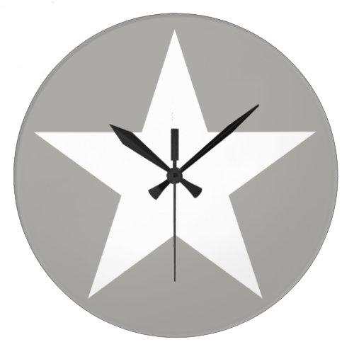 Star (white) / Round (Large) Wall Clock