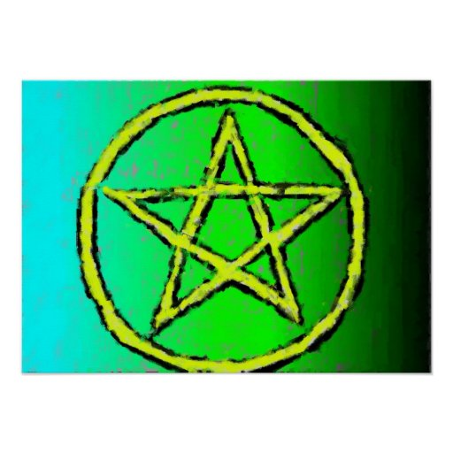 Star Wiccan green Poster
