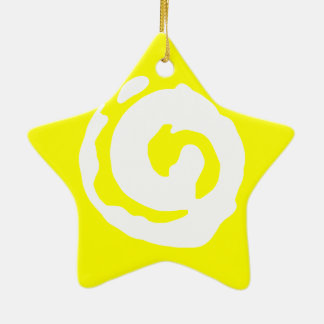 Star With Koru Symbol Christmas Ornament