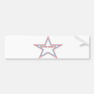 Star with North Dakota in it. Bumper Sticker