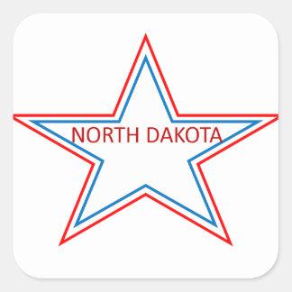 Star with North Dakota in it. Square Sticker