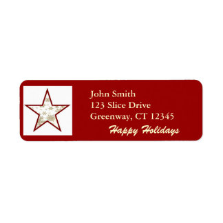 Star with Snowflakes Avery Label Return Address Label