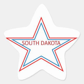 Star with South Dakota in it. Star Sticker