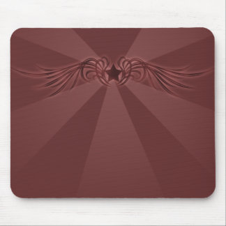 Star with wings mouse pad