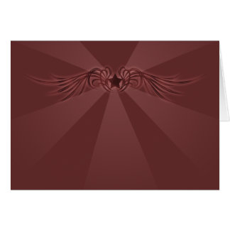 Star with wings note card
