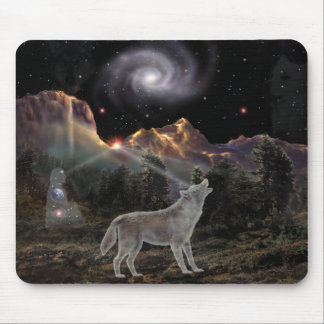Star Wolf Mouse Mat