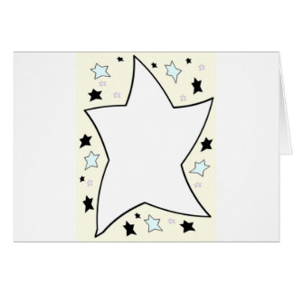 star yellow greeting card