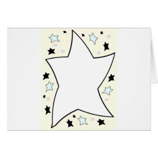 star yellow greeting card