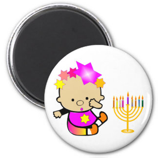 StarBaby with Menorah Magnet