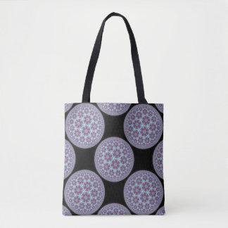Starball mandala in purple tote bag
