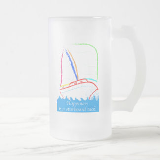 Starboard Tack Frosted Glass Beer Mug