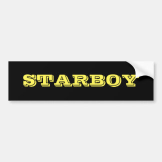 STARBOY Customizable Text on a Black Background Bumper Sticker