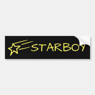 STARBOY & Shooting Star Customizable Yellow/Black Bumper Sticker