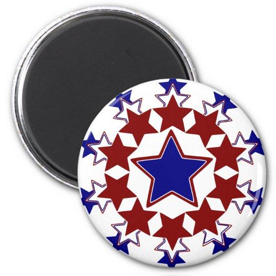 Starburst 6 Cm Round Magnet