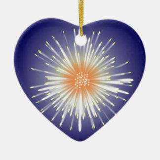 Starburst Ceramic Heart Decoration