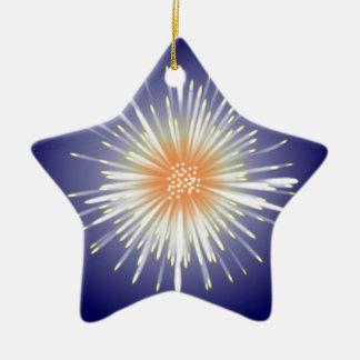 Starburst Ceramic Star Decoration