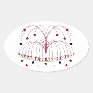 Starburst Fountain Fourth of July Sticker