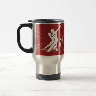 Starburst Full Logo - Clear Stainless Steel Travel Mug