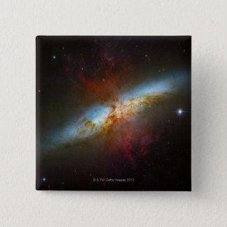 Starburst Galaxy M82 15 Cm Square Badge