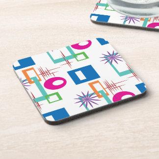 Starburst Geometric Multicolored Pattern Beverage Coaster