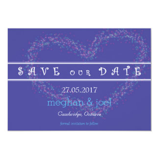 Starburst heart save the date 13 cm x 18 cm invitation card