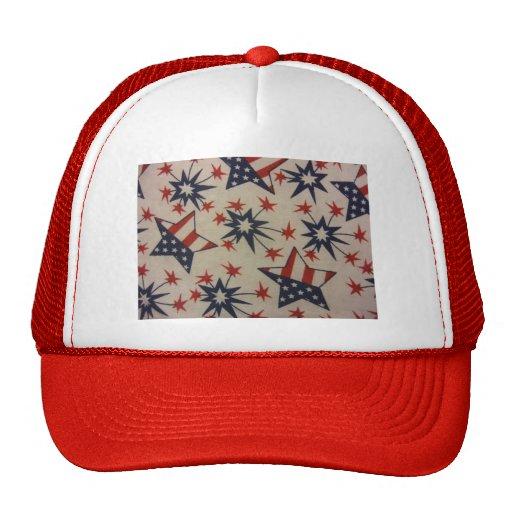 Starburst in Red, White & Blue Mesh Hats