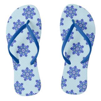 Starburst kaleidoscope flip flops