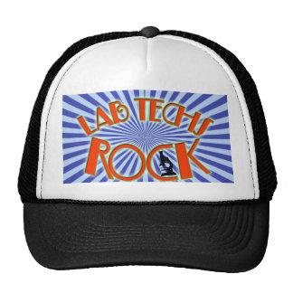 STARBURST LAB TECHS ROCK (LABORATORY SCIENTIST) TRUCKER HATS