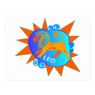Starburst Leo Postcard
