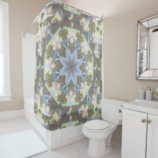 Starburst Mandala Shower Curtain