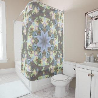 Starburst Mandala Shower Curtain