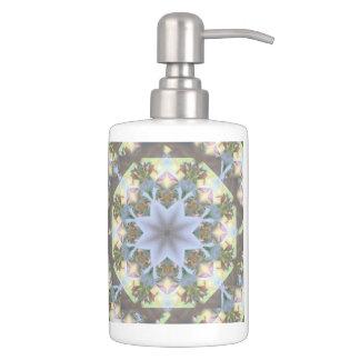 Starburst Mandala Toothbrush/ Soap Dispenser Set