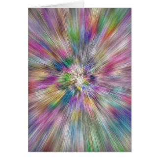 Starburst of Color Greeting Card