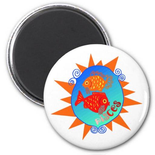 Starburst Pisces Magnet