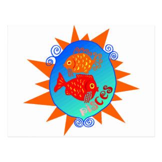 Starburst Pisces Postcard