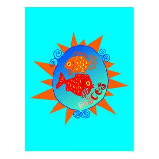 Starburst Pisces Postcards