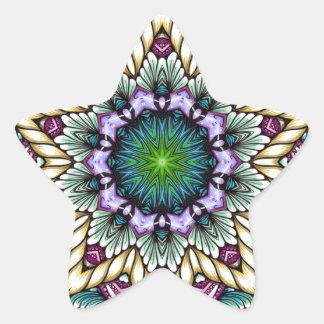 Starburst & ropes star sticker