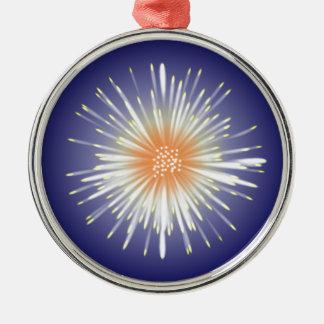 Starburst Silver-Colored Round Decoration
