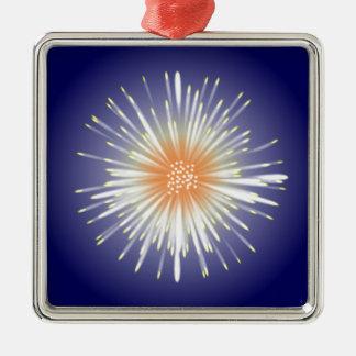 Starburst Silver-Colored Square Decoration