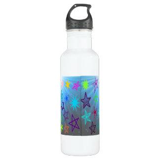 Starburst With Glowing Star Background 710 Ml Water Bottle
