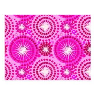 Starbursts and pinwheels, orchid and magenta post card