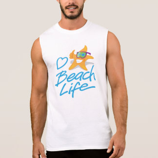 StarDude Heart Beach Life Sleeveless T-Shirt