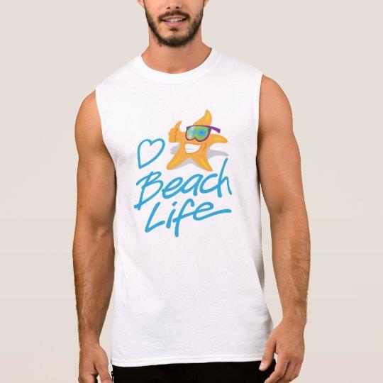 StarDude Heart Beach Life Sleeveless T-Shirt