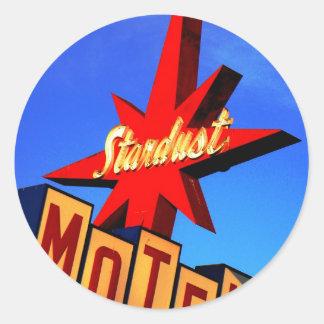 Stardust Motel Round Sticker