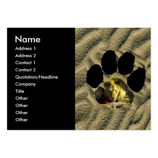 Stare of A Lion Footprint Business Card