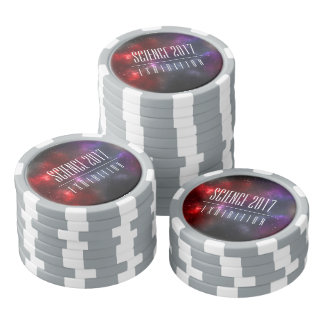 Starfield with Multicolored Cosmic Dust Poker Chips