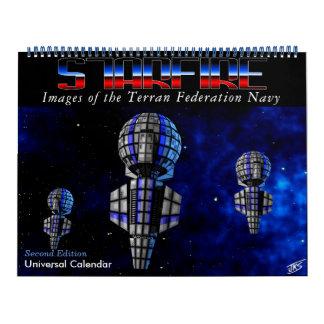 Starfire Calendar: Terran Federation Navy, 2nd Ed Wall Calendar