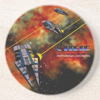 Starfire Coaster: KON Destroyers in battle Coasters
